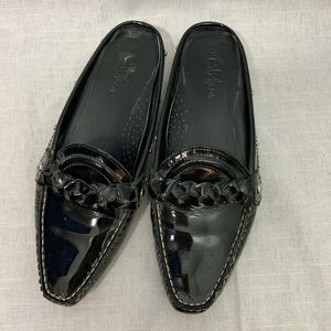 Cole Haan Patent Leather Loafer Mules